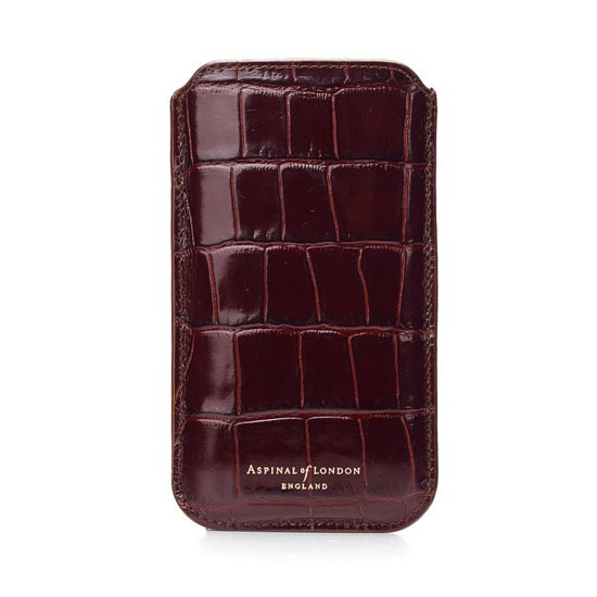 Aspinal 062-1697 Leather iPhone 6 Case Amazon Brown Croc & Stone Suede