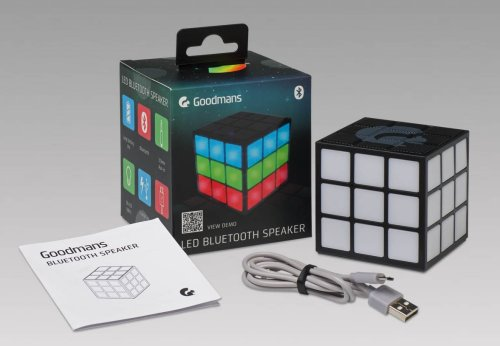 Goodmans Disco Cube Bluetooth Speaker Multi Coloured