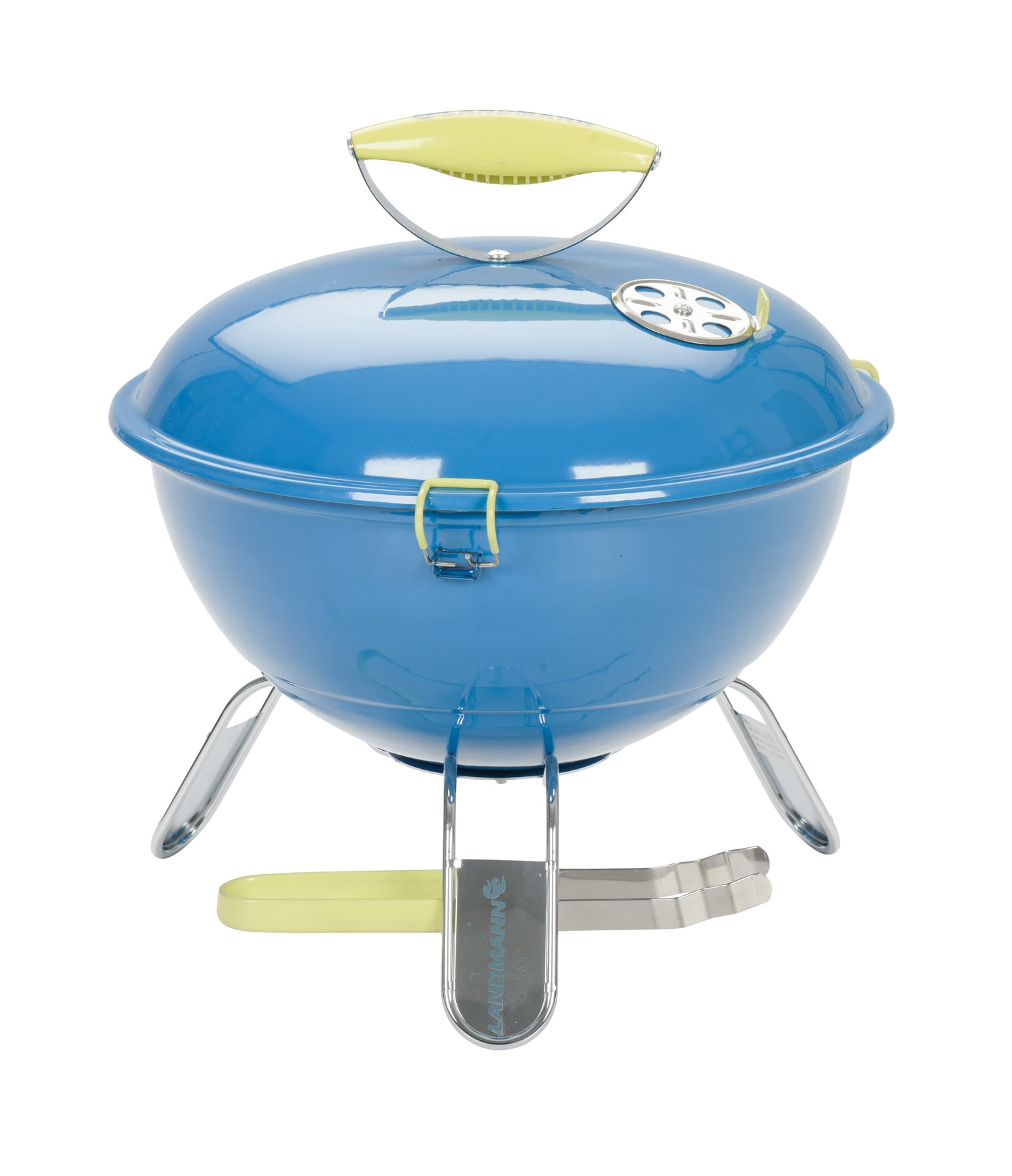 Landmann 31381 Piccolino Azure Blue Portable Charcoal BBQ